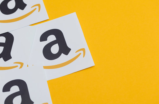 January 12th 2018, London, UK. Amazon logo printed onto paper. Amazon is the largest online retailer in the world and was founded in 1994