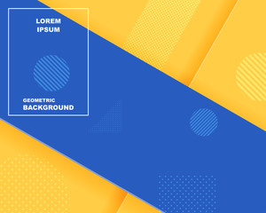 Abstract background texture, Sale banner template design, bright poster. Big sale special offer, Banner yellow background, Paper cut style, Blue stripes and shapes, vector illustration.