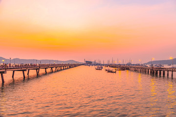 Chalong bay very important for travel business it is a center for all boat and yacht marina there have two piers  for transport service tourists.Chalong marina is a center for intense boating activity