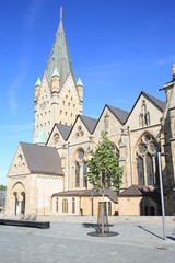The historic cathedral in Paderborn, Germany