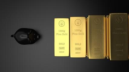 Fototapete - Erfolgreiche Geldanlage mit Gold