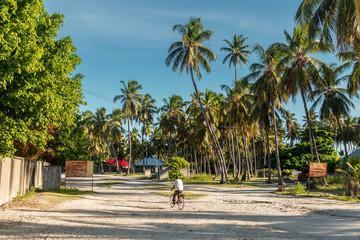 Street in Jambiani town, Zanzibar