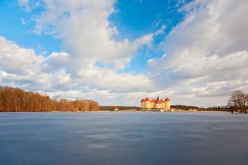 Schloss Moritzburg im Winter, Deutschland