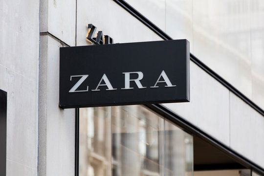 LONDON, UK - JULY 31th 2018: Zara clothing store shop front on Oxford Street in central London.