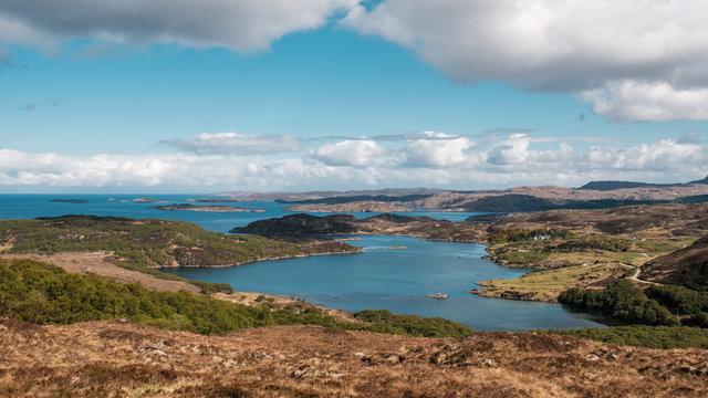 View of Loch Ardbhair in Higlands of Scotland