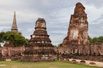 Ruins of Wat Mahathat in Ayutthaya