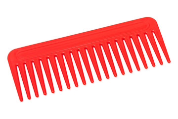 new red plastic comb