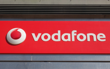 EDINBURGH, UK - CIRCA JUNE 2018: Vodafone storefront
