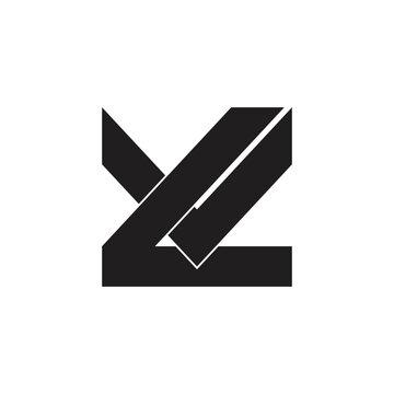 letter lv simple geometric logo vector