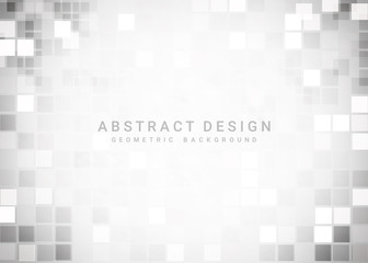 Wall Mural - Abstract gray geometric background