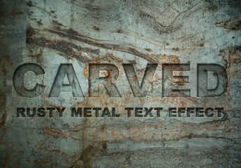 Carved Metal Text Effect