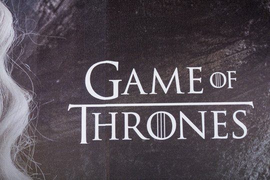 LONDON, UK - April 15th 2019: Game of thrones advertising billboard on display in London. Game of thrones is a fantasy television series created for HBO