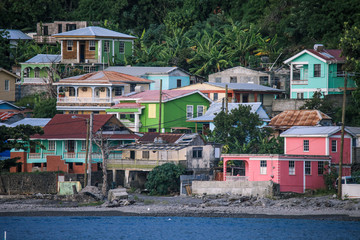 Nice Coastline of the Dominica Island, Caribbeans