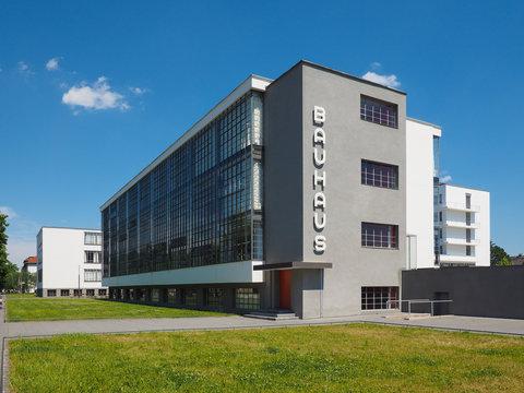 DESSAU, GERMANY - CIRCA JUNE 2019: Bauhaus sign