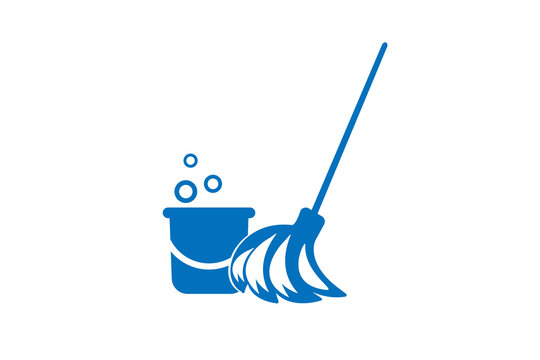 Modern house cleaning kit icon vector, cleaning brush icon vector