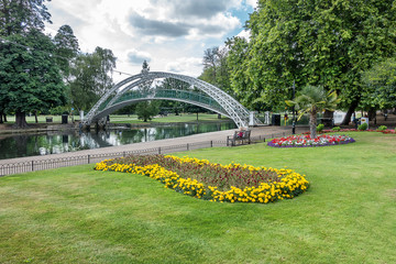 Bedford embankment in the county of Bedfordshire England