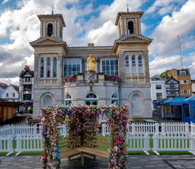 Medieval architecture  in Market house, Market place in Kingston upon Thames town of London