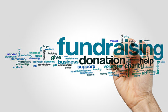 Fundraising word cloud