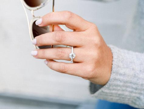Lab Diamond Diamond Band Engagement Ring