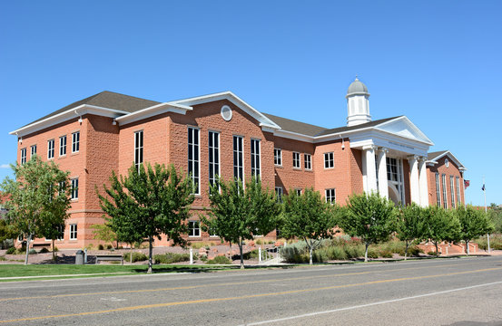 ST. GEORGE, UTAH - AUGUST 15, 2015:  St. George, Utah, the Fifth Judicial District Courthouse.