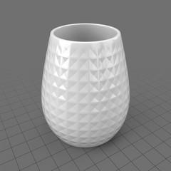 Modern patterned vase