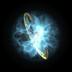 supernova explosion in space