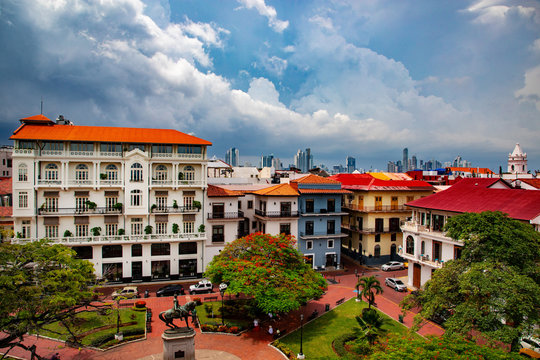 Casco Viejo in Panama City the historic place of Panama