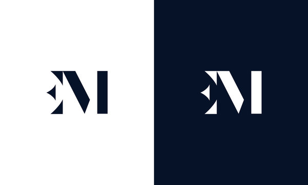 Abstract letter EM logo. This logo icon incorporate with abstract shape in the creative way.