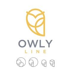 Wall Murals Owls cartoon logo vector line art minimalist luxury owl