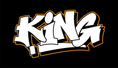 Fototapeta Graffiti style lettering text design obraz