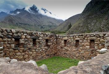 Rock building in Peru