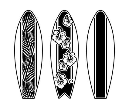 Set surfboard print design for surfing