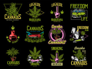Print set cannabis design