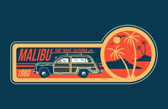 Malibu surfing trip print