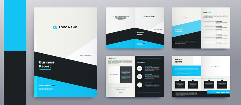 modern brochure pages design premium vector