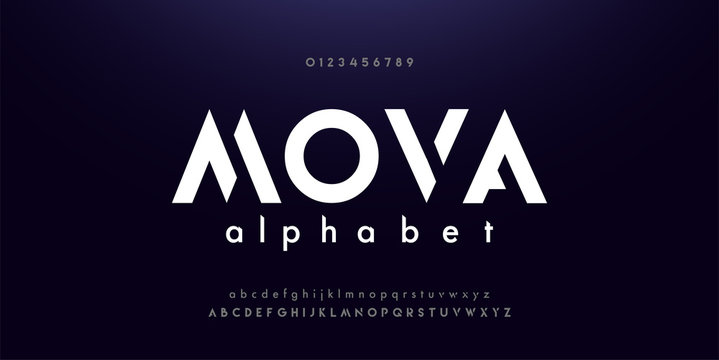 Abstract digital modern alphabet fonts. Typography technology electronic dance music future creative font. vector illustraion