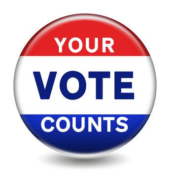 YOUR VOTE COUNTS - election vote button