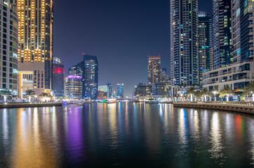 wonderful panorama of dubai at night