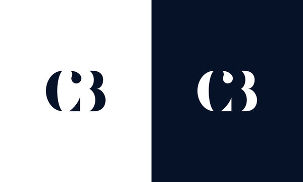 Abstract letter CB logo. This logo icon incorporate with abstract shape in the creative way.