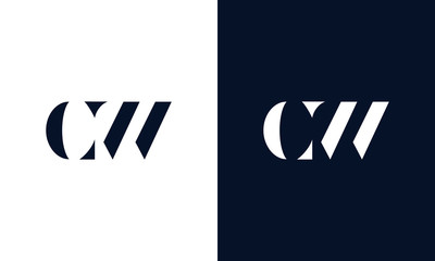 Abstract letter  logo. This logo icon incorporate with abstract shape in the creative way.
