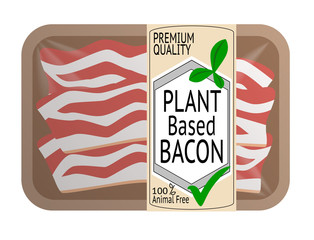 Plant based Meat with Bacon in Packaging