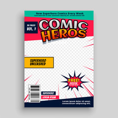 comic book magazine page template design