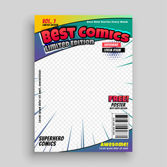 comic book cover magazine front page design layout