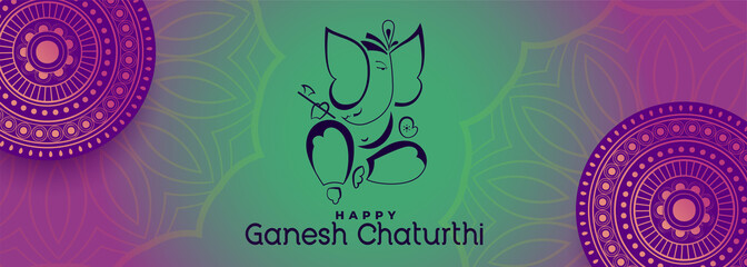 Ganesh Chaturthi Banner photos, royalty-free images