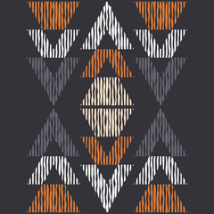 Foto op Canvas Boho Stijl Ethnic boho seamless pattern. Lace. Embroidery on fabric. Patchwork texture. Weaving. Traditional ornament. Tribal pattern. Folk motif. Can be used for wallpaper, textile, wrapping, web.