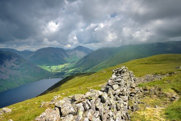 Dark clouds over Wasdale and Wast Water