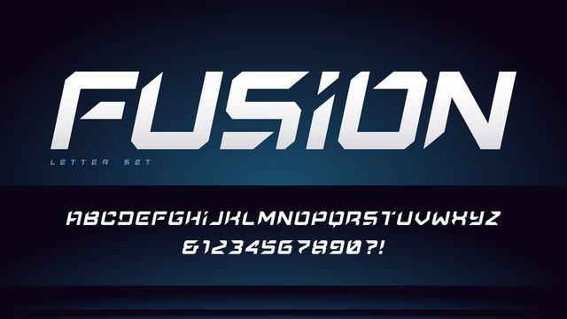 Vector cropped uppercase italic letter set, font, alphabet