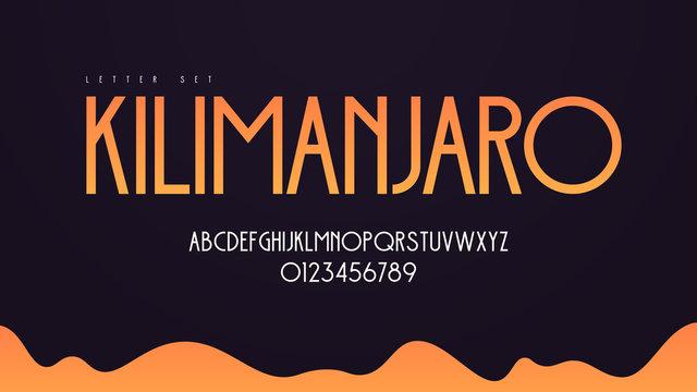 Modern art deco vector alphabet, uppercase letter set, font, typography