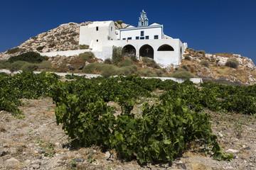 Monolithos Church at Santorini, Greece.