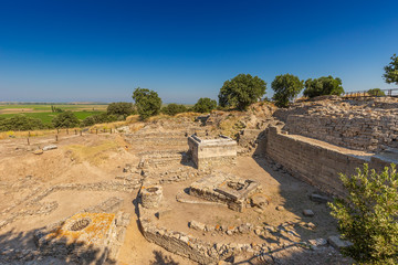 Ruins of ancient legendary city of Troy